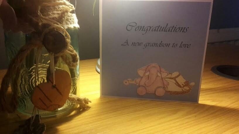 Congratulations a new grandson