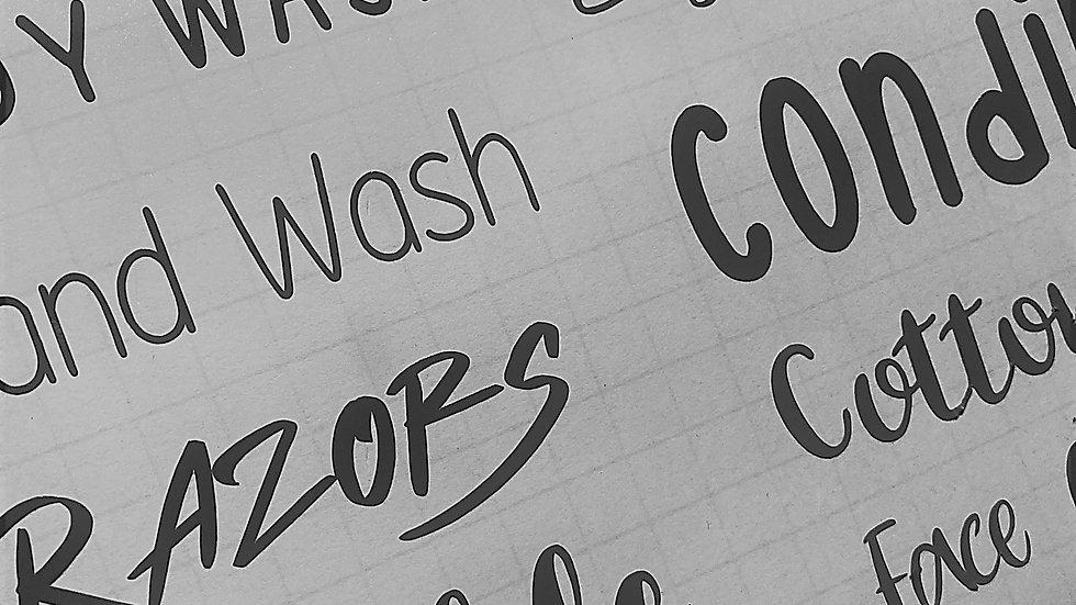 Bathroom Labels
