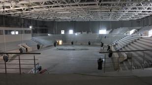 Строительство Ледового дворца в Самаре. Фото