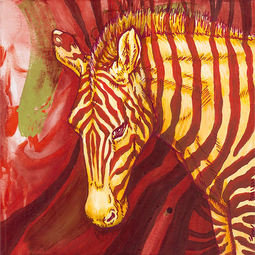 Aura in Stripes Gallery Wrapped Print on Canvas