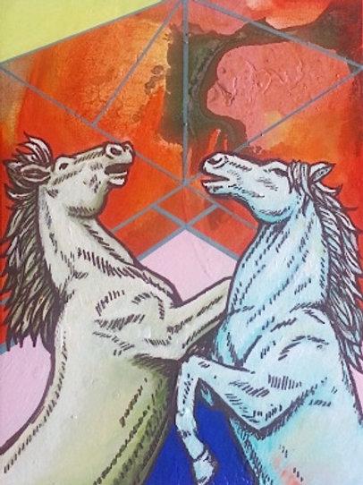 Horseplay Original Painting
