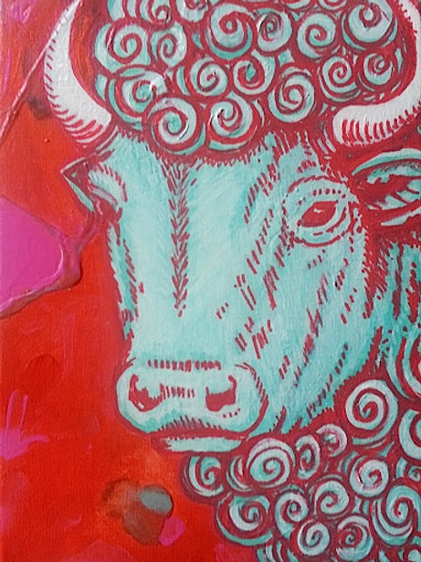 Buffalo Stance Original Painting