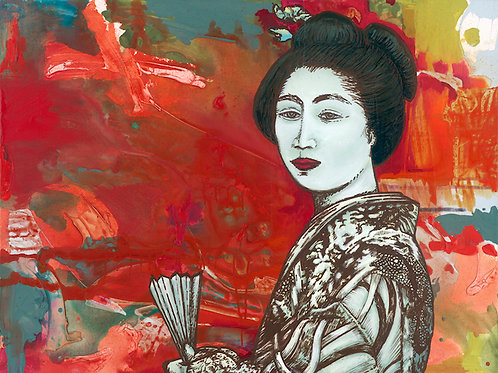 Glorious Geisha Print on Paper