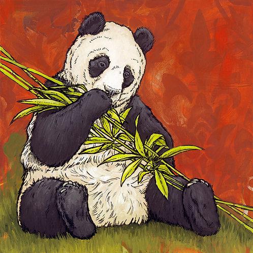 Giant Panda Print on Paper