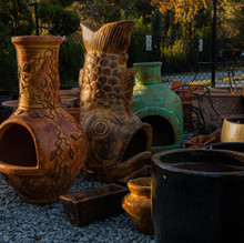 Chiminea and Mexican Pottery.jpg