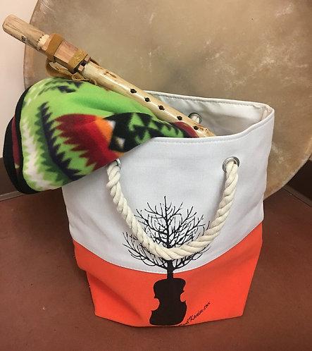 Swil Kanim Tree/Violin Tote Bag (ORANGE)