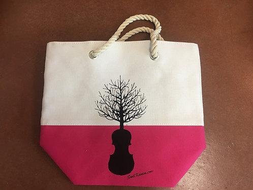 Swil Kanim Tree/Violin Tote Bag (PINK)