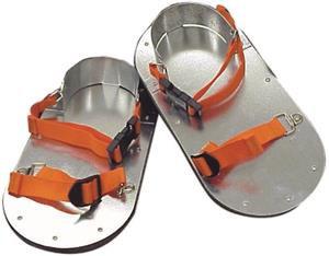 20086 Zapatos De Acero Inoxidable Para Asfalto Con Correas Ajustables