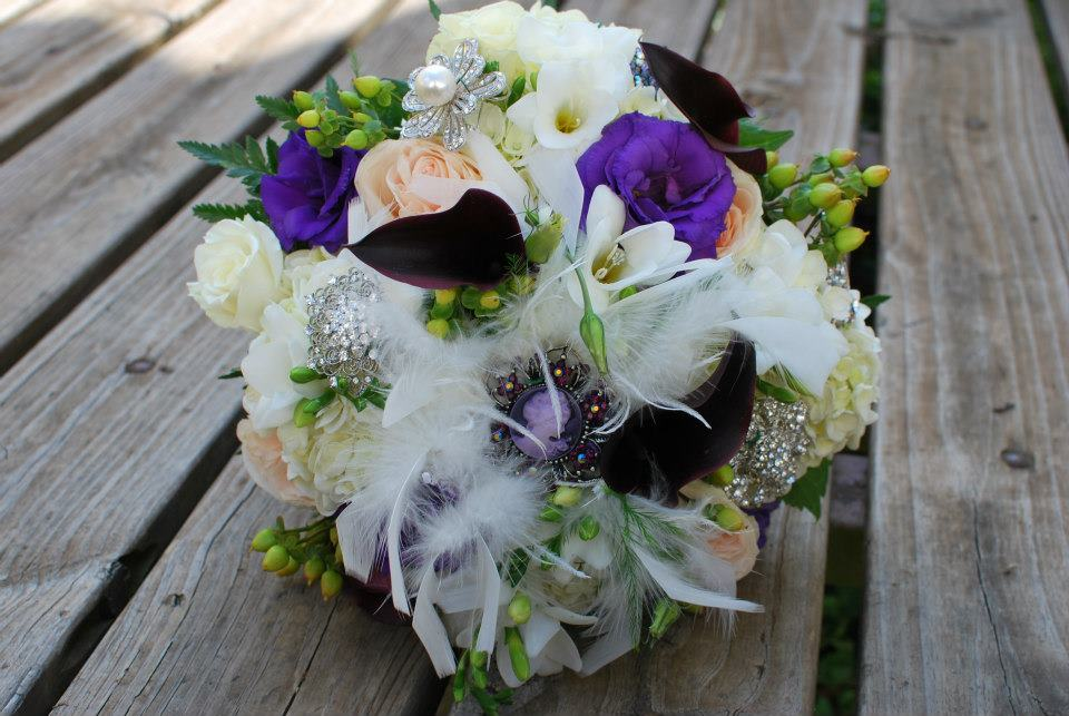 Bridal and Broach Bouquet