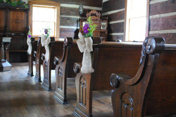 Country Church Pew Decor