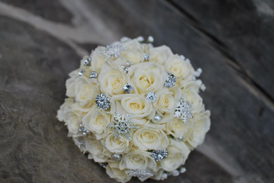 Winter Themed Rose Bridal Bouquet