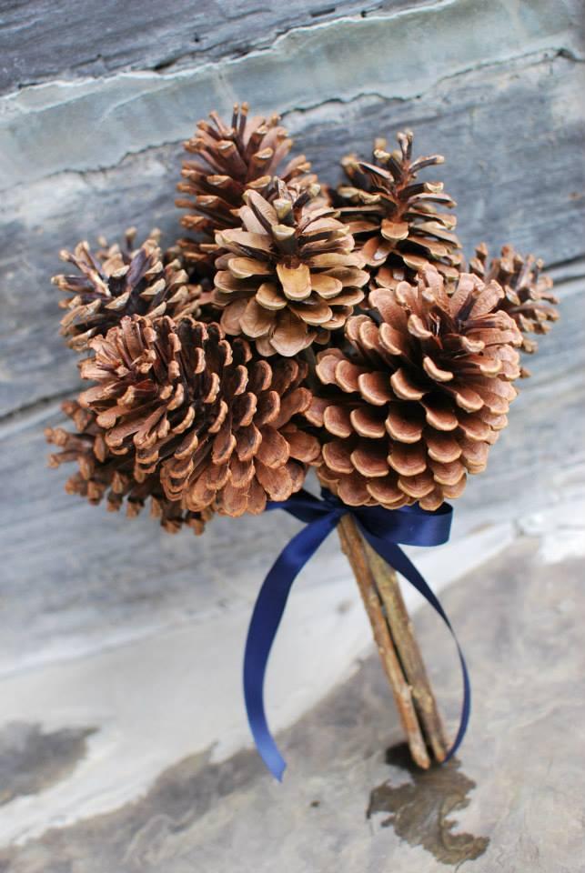 Pinecone Bridesmaid Bouquet