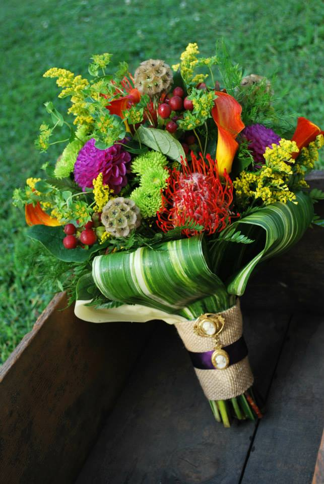 Tropical Fall Bridal Bouquet