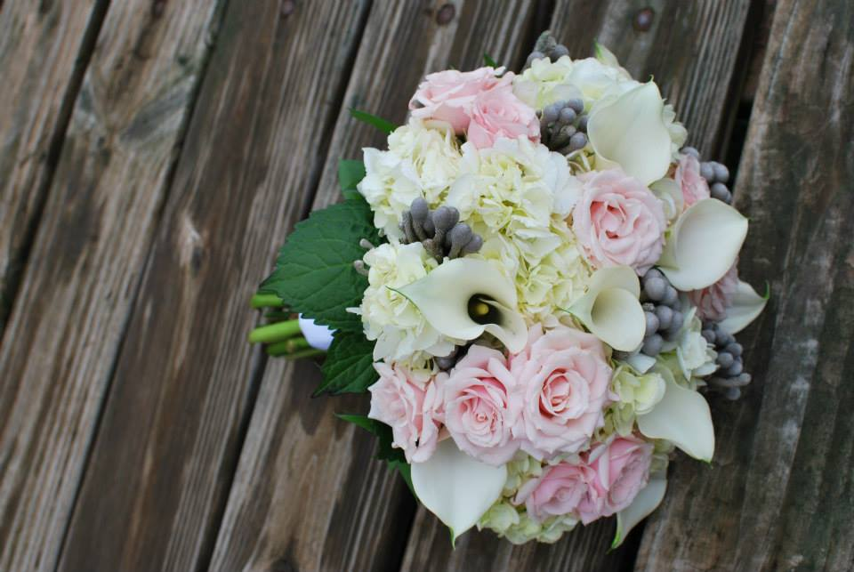 Pink/Grey Wedding Bouquet