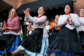 Hungarian Folk Female Dancers