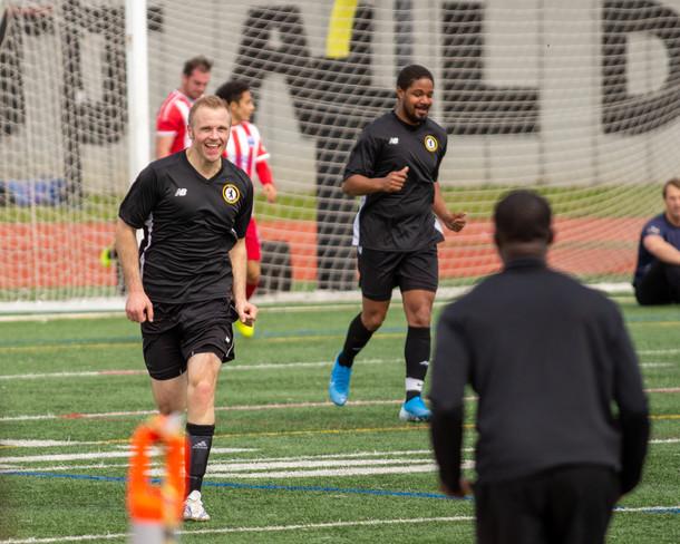 Revily FC Player Celebrates Goal