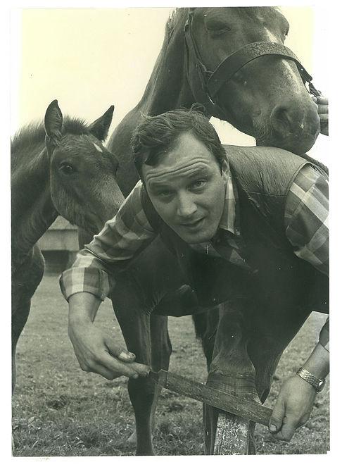 Johan Versteegen aan het werk, jaren '80