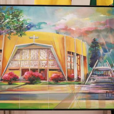 O quadro presenteado ao novo arcebispo