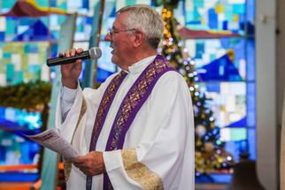 Pe. Agostinho na paróquia N.ª Sra. de Mont'Serrat - Porto Alegre