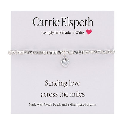 Sending love across the miles Sentiment Bracelet