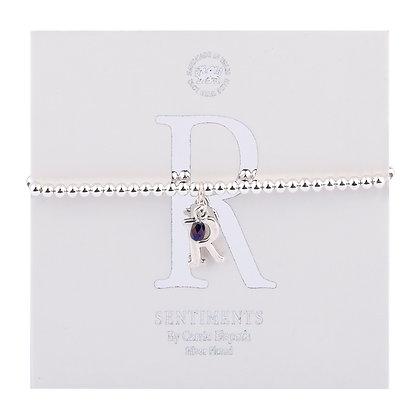 Letter 'R' Sentiment Bracelet