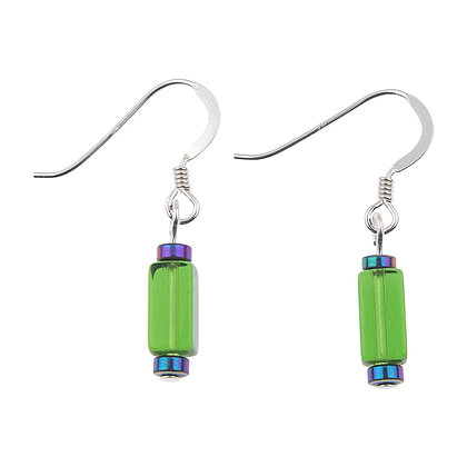Glass Rectangles Earrings (More Colours Available)