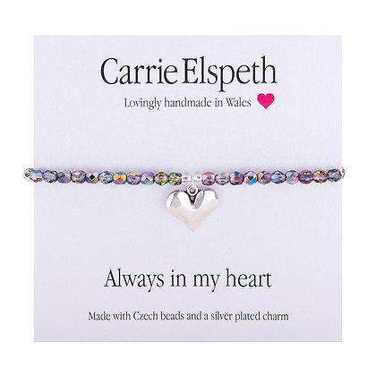 Always in my heart Sentiment Bracelet
