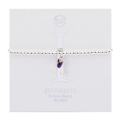 Letter 'I' Sentiment Bracelet