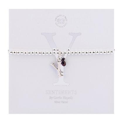 Letter 'Y' Sentiment Bracelet