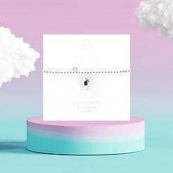 Sqaure - Sentiment Bracelets - Letter C.