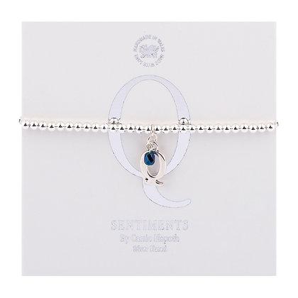 Letter 'Q' Sentiment Bracelet
