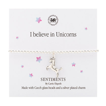 I believe in Unicorns Sentiment Bracelet