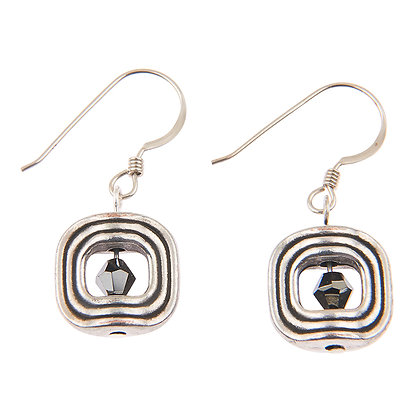 Silver Labyrinth Earrings