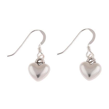 Small Plump Heart Earrings