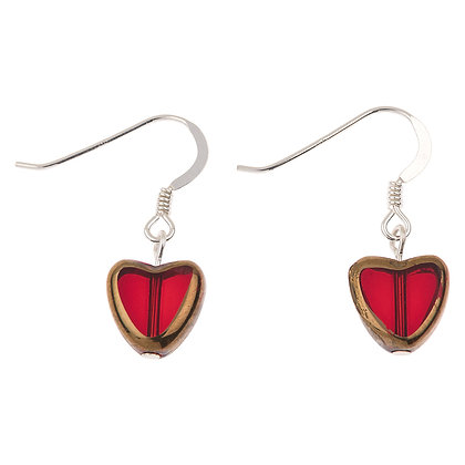 Gold Edged Hearts Earrings (More Colours Available)