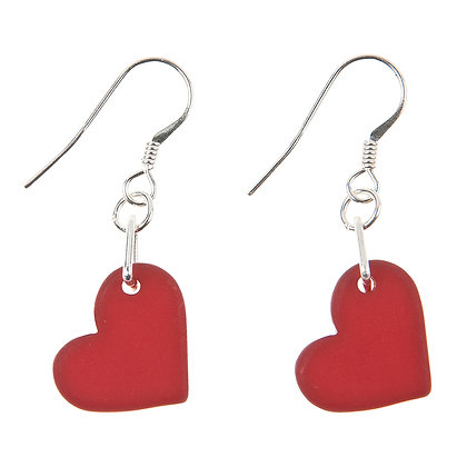 Satin Heart Earrings (More Colours Available)