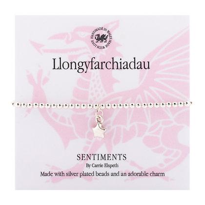Congratulations - Llongyfarchiadau Sentiment Bracelet