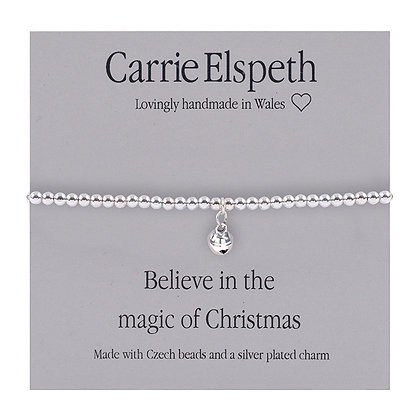 Believe in the magic of Christmas Sentiment Bracelet