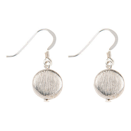 Brushed Silver Discs Earrings