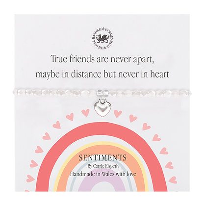 True friends are never apart, maybe in distance... Sentiment Bracelet