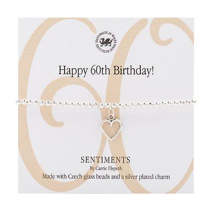 Happy 60th Birthday! Sentiment Bracelet