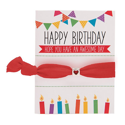 Happy Birthday Greeting Card Colourbands