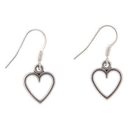 Small Open Heart Earrings