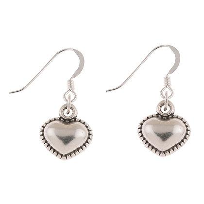 Bordered Heart Earrings