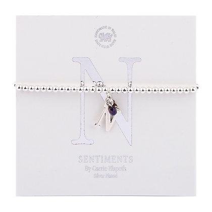 Letter 'N' Sentiment Bracelet