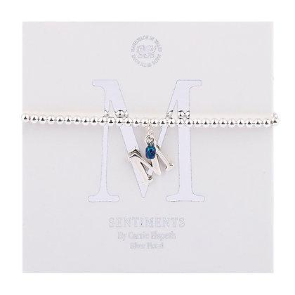 Letter 'M' Sentiment Bracelet