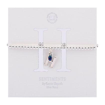Letter 'H' Sentiment Bracelet
