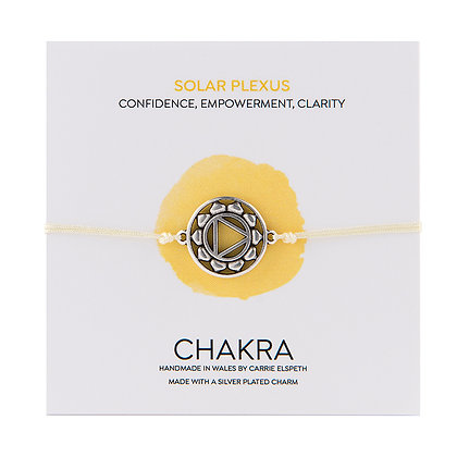 Solar Plexus Chakra Charm Bracelet