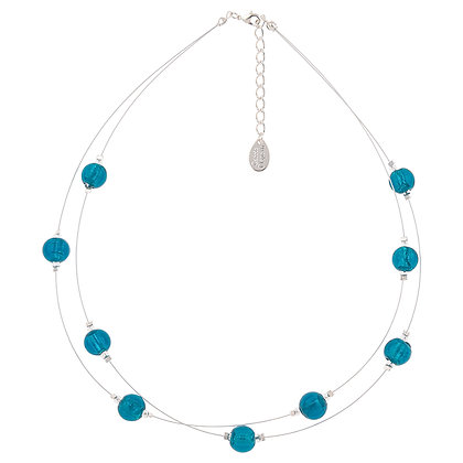 Silver Lined Globes Necklace (More Colours Available)