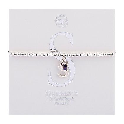 Letter 'S' Sentiment Bracelet